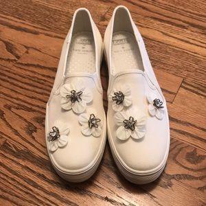 NWOB Kate Spade for Keds White Sneaker Size 9M